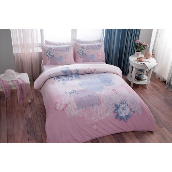 Renforcé BaumwolleTac Adelia 200x220 Bettwäsche Pink