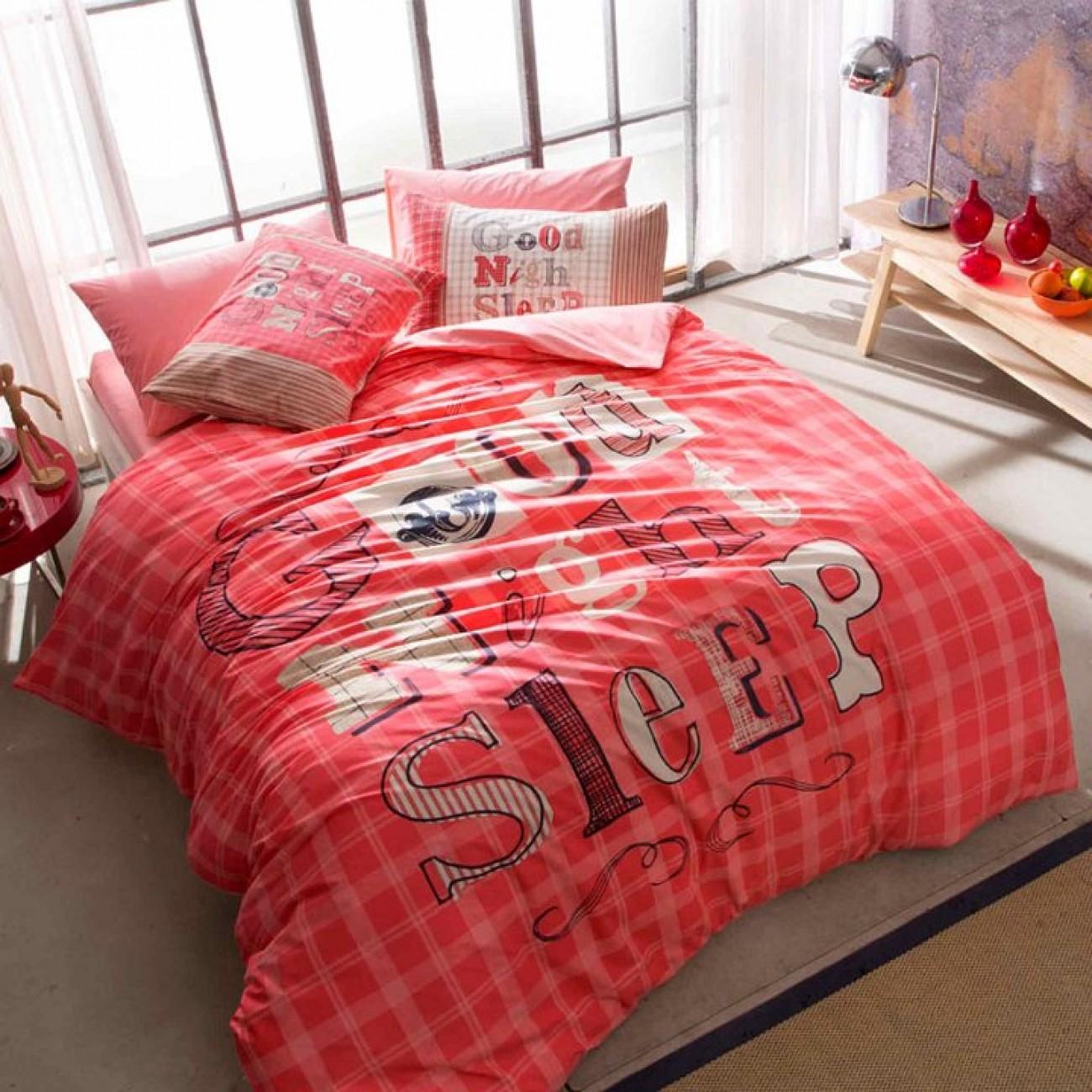 Jugendstiltac Good Night 160x220 Bettwäsche Pink