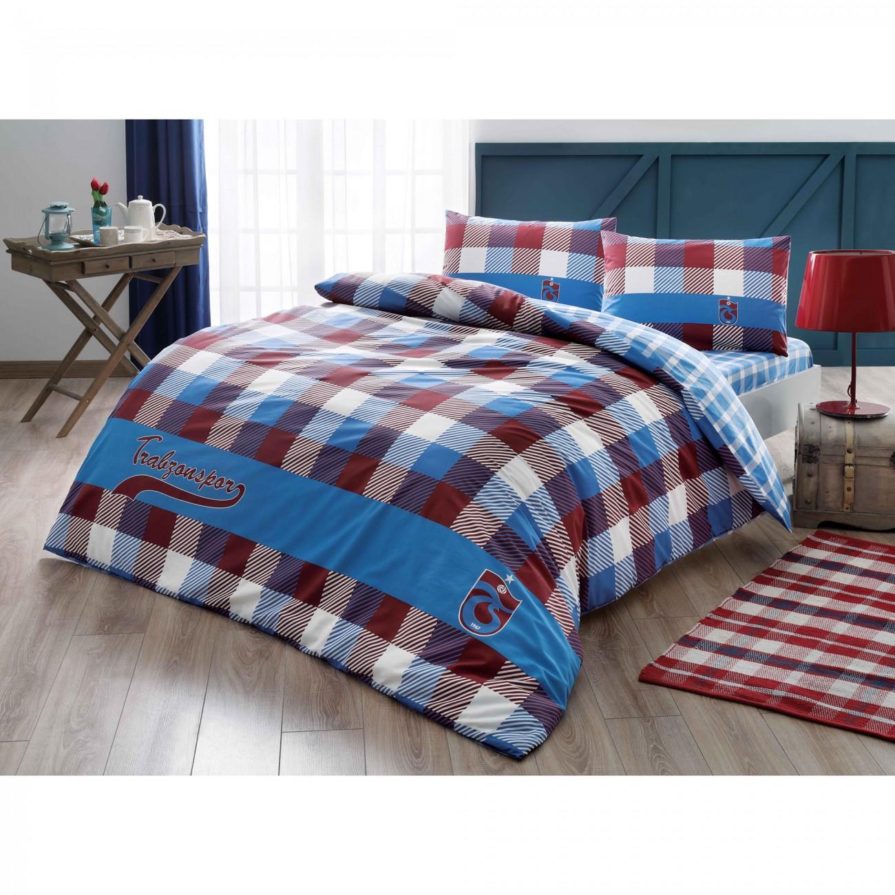 schlafzimmer tac trabzonspor ekose bettw sche set 200x220. Black Bedroom Furniture Sets. Home Design Ideas