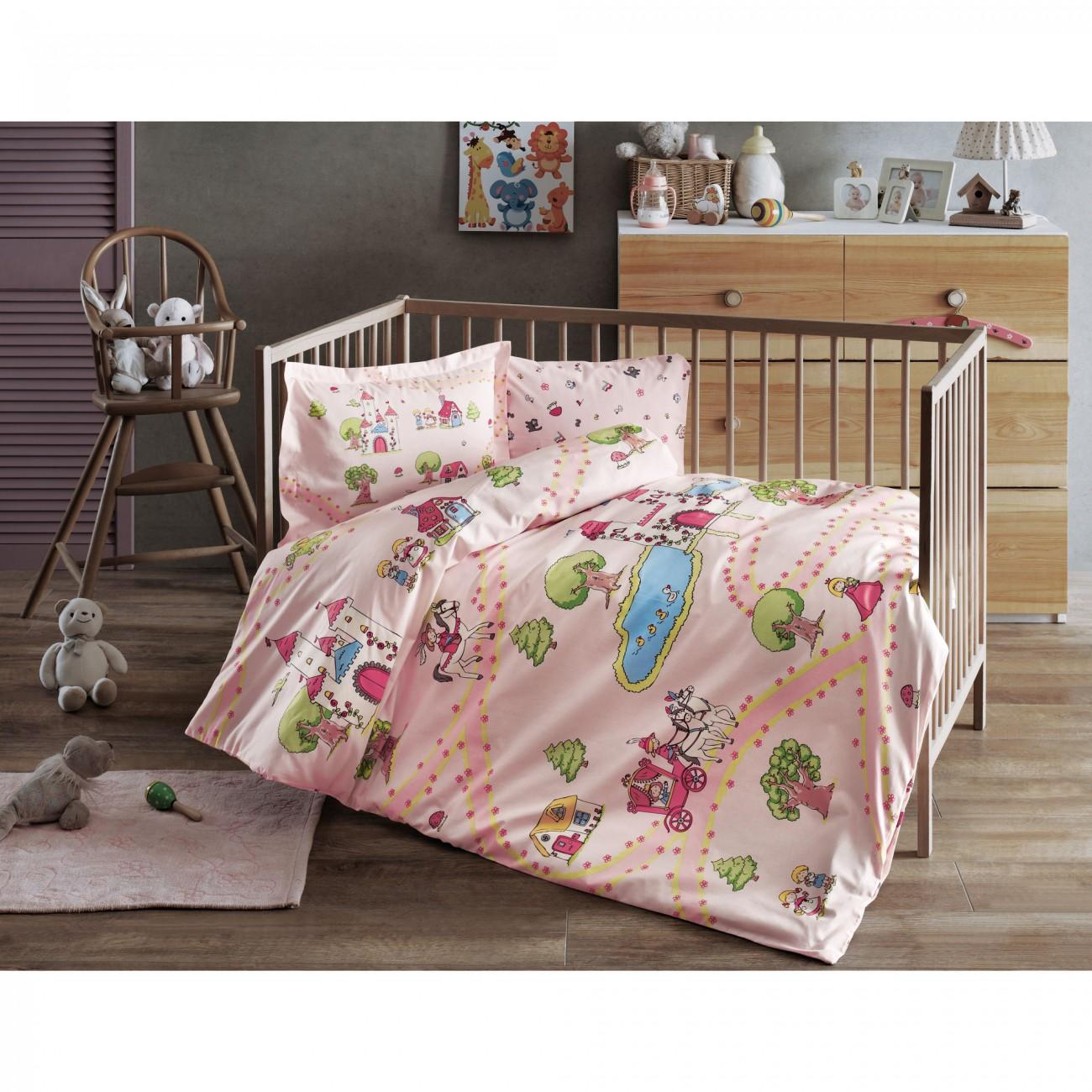 Tac Rancforce Baby Bettwäsche Set Prinzessin Pink