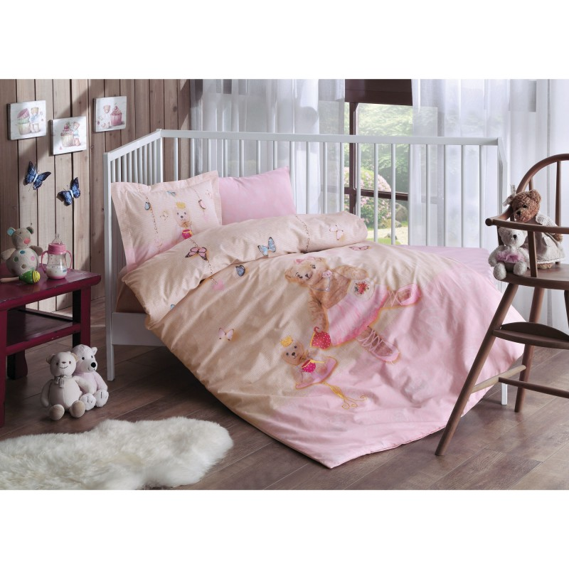 TAC Ranforce Baby Bedding Set - Balerina Pink
