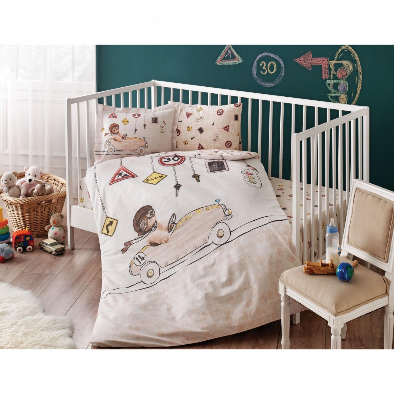 Tac Rancforce Baby Bettwäsche Set Fahrer Beige
