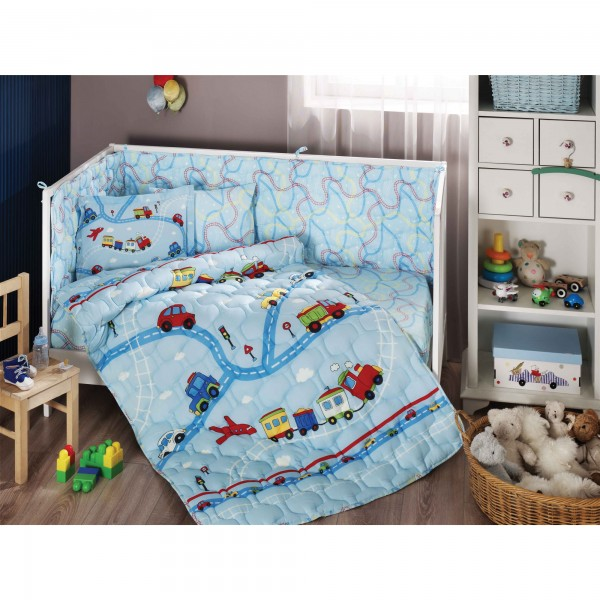 BABYTAC Rancforce Baby Schlaf Set - Trafic Blau