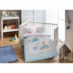 BABYTAC Bio Baby Bettbezug Set - Little Cat Blue