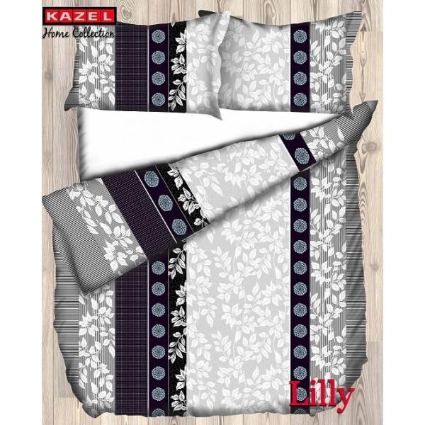 MİCROFASER 135x200Kazel Lilly Microfaser Bettwäsche 135x200cm–80x80cm Kissenbezug
