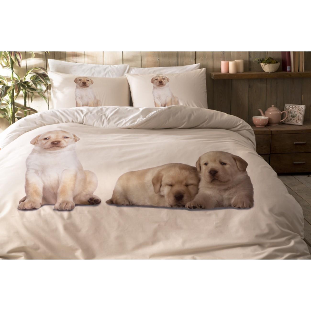 renforc baumwolletac dogs 160x220 bettw sche. Black Bedroom Furniture Sets. Home Design Ideas