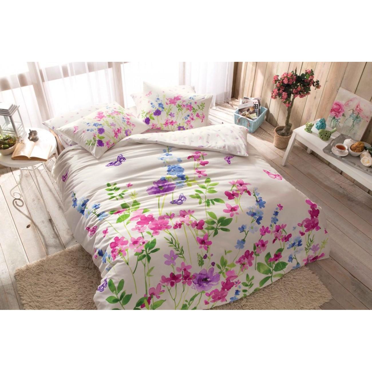 Renforce Baumwolletac Melrose Bettwasche Pink 200x220